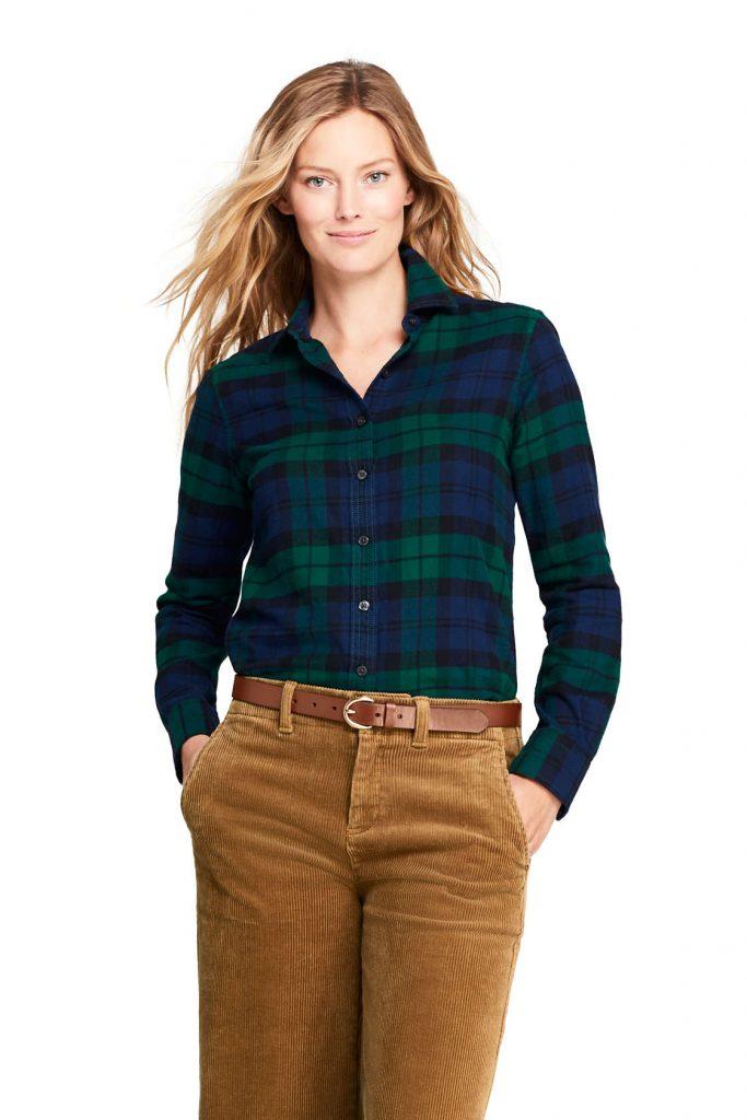 Low Contrast Flannel Lands End