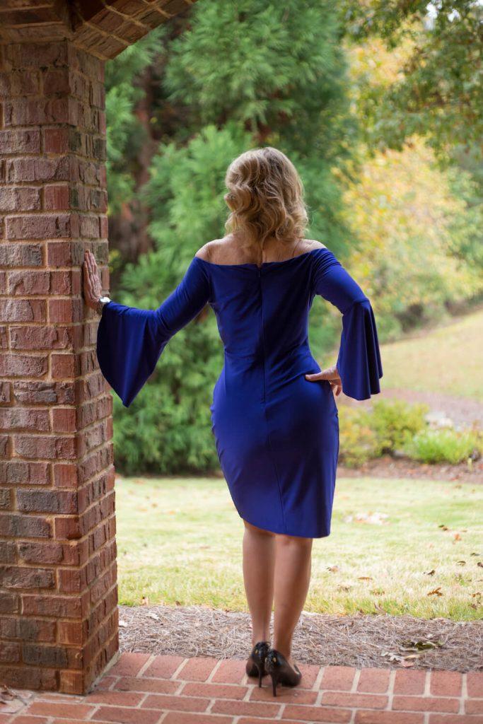 Cheryl Callahan blue dress