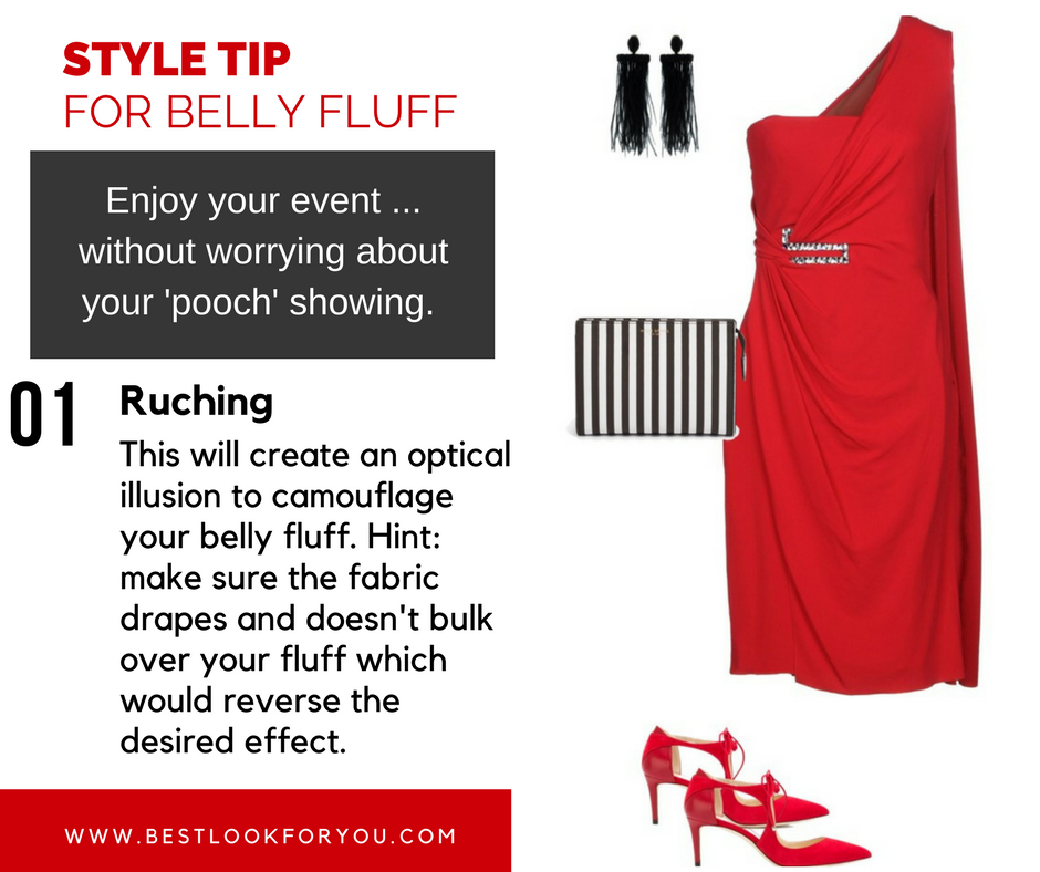 Style Tip for Belly Fluff - Ruching