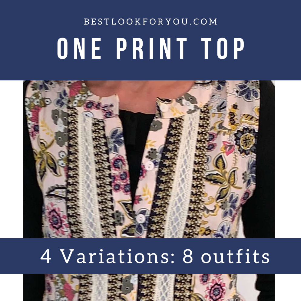 One Print Top 4 Variations